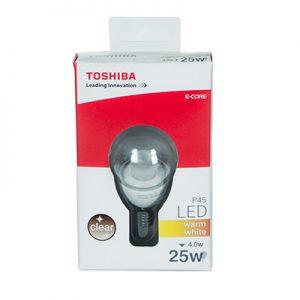 Żarówki LED E14 TOSHIBA 25W P45 kulka przeźroczysta