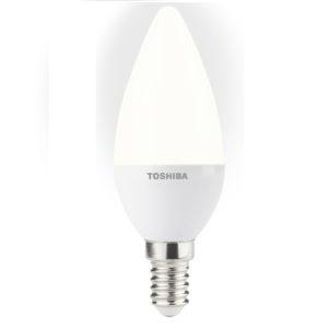 Żarówka LED E14 TOSHIBA świeczka 40W/6W mat